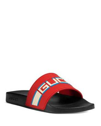 Gucci Stripe Rubber Slide Sandal