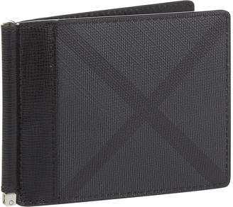 Burberry Check Money Clip Wallet