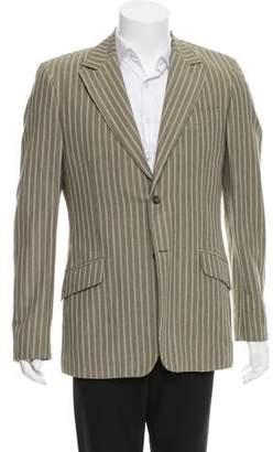 Dolce & Gabbana Striped Linen-Blend Blazer