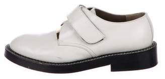 Marni Leather Round-Toe Oxfords