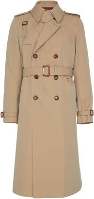 Alexander McQueen Harness-Detailed Cotton-Gabardine Trench Coat