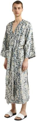 Versace Bavelet Long Satin Robe