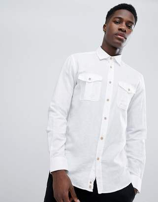 Benetton Linen Mix Shirt in White