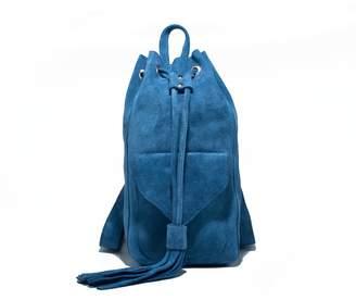 Zwina Habibi - Lazy Day Blue Suede Backpack