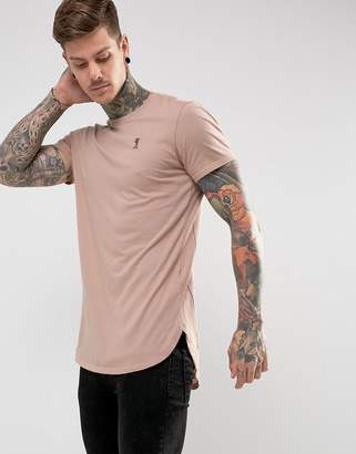 Religion Longline T-Shirt With Chest Branding