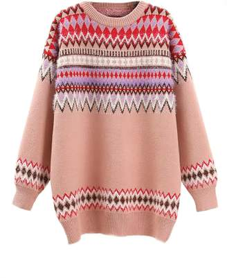 Goodnight Macaroon 'Leila' Aztec Pattern Crewneck Sweater (3 Colors)