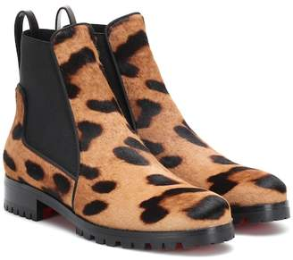 Christian Louboutin Marchacroche calf hair ankle boots