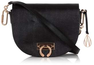 Amanda Wakeley Crossbody Niven Bag in Black Leather