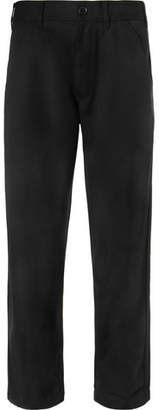 Comme des Garcons Wide-Leg Wool-Twill Trousers - Men - Black