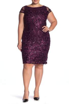 Marina Embroidered Sequin Lace Dress