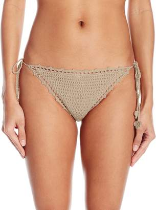 Bikini Lab Junior's Take It Or Weave It Crochet Side-Tie Bikini Bottom