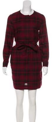 Burberry Wool Plaid Dress