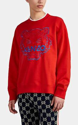 Kenzo Men's Tiger-Embroidered Cotton Sweatshirt - Md. Red