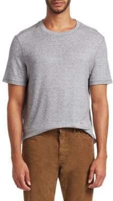 Saks Fifth Avenue MODERN Short Sleeve Crewneck Coverstitch T-Shirt