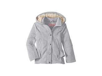 Urban Republic Kids Elena Fleece Hooded Jacket w/ Ruffles (Little Kids/Big Kids)