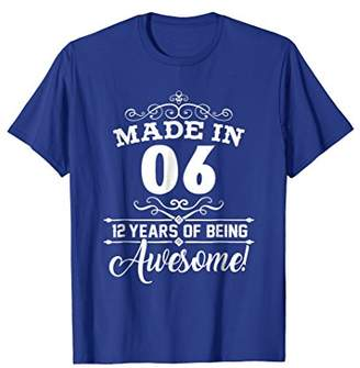 Sweet 12th Birthday Party Gifts of 12 Years Old 2006 T-Shirt