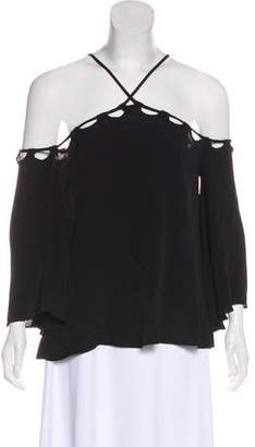Lovers + Friends Textured Cold-Shoulder Top w/ Tags
