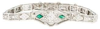14K Art Deco Diamond Bracelet