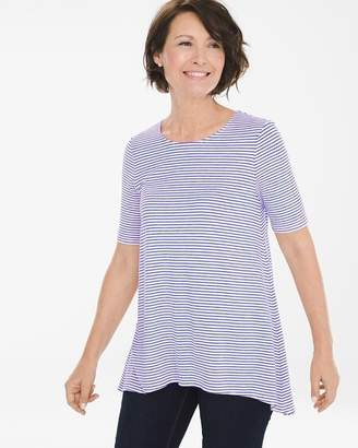 Striped Elbow-Sleeve Tee