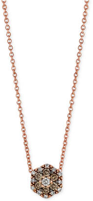 Le Vian Chocolatier® Chocolate and White Diamond Accent Pendant Necklace in 14k Rose Gold $1,800 thestylecure.com