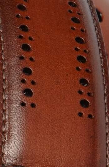Allen Edmonds Men's Manistee Brogue Leather Belt