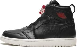 Jordan Womens Air 1 HI Zip Prem Black/Gym Red