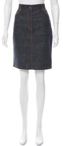 Michael Kors Denim Knee-Length Skirt