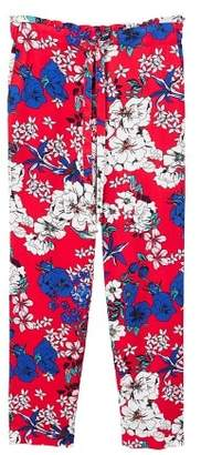 MANGO Drawstring flowy trousers