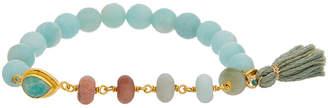 Chan Luu 18K Over Silver Gemstone Stretch Bracelet