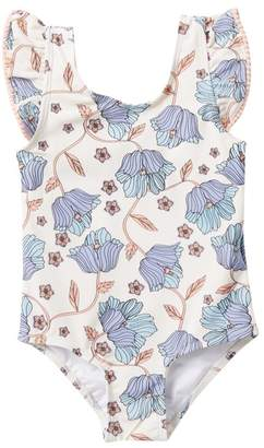 Jessica Simpson Eventide Floral One Piece Bathing Suit (Toddler Girls)