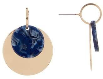 Ettika Layered Resin Disc Drop Earrings