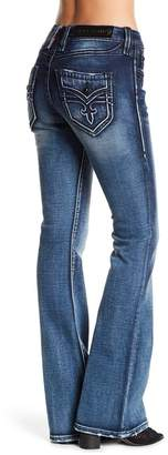 Rock Revival Luz Mid Rise Flare Jeans