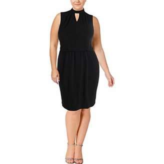 Nine West Women's Solid Ity Key Hole Dress