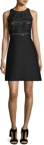 Kate SpadeKate Spade New York Sleeveless Beaded Cocktail Dress, Black