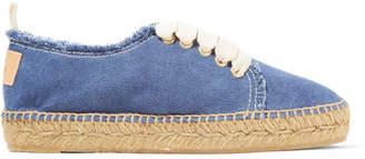 Castañer - Kosario Denim Espadrille Sneakers - Blue $140 thestylecure.com