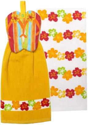 Celebrate Summer Together Flip-Flop Tie-Top Kitchen Towel 2-pack