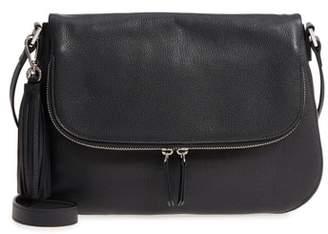 Nordstrom Kara Leather Expandable Crossbody Bag
