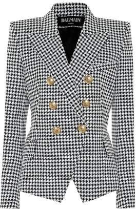 Balmain Cotton-blend houndstooth blazer