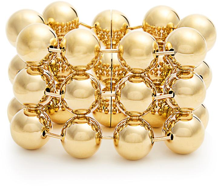 Balenciaga BALENCIAGA Triple ball-bead chain bracelet
