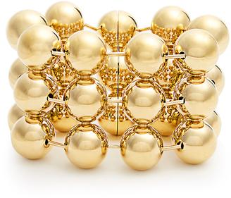 Triple ball-bead chain bracelet