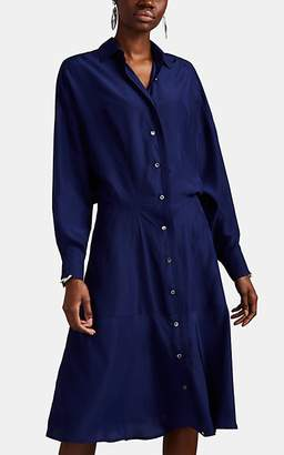 Derek Lam Women's Silk Georgette Shirtdress - Ink Navy