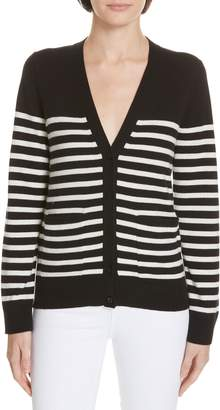 Kate Spade heart patch stripe cardigan