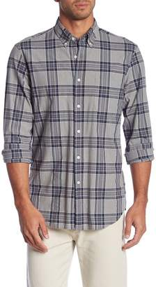 J.Crew J. Crew Heather Plaid Print Poplin Stretch Slim Fit Shirt