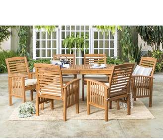 Manor Park Acacia Wood Simple 7 Piece Patio Dining Set - Brown