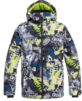 c63bb6e33d Quiksilver Mission Print Insulated Waterproof Hooded Jacket
