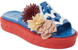 Paula Cademartori Kartell By Floral Accented Platform Sandals