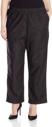 Alfred Dunner Women's Plus-Size Denim Proportioned Medium Pant