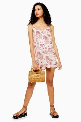 Topshop Womens Ivory Jungle Print Nightwear Playsuit - Ivory