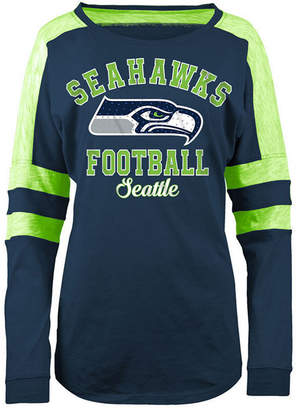 5th & Ocean Women's Seattle Seahawks Space Dye Long Sleeve T-Shirt