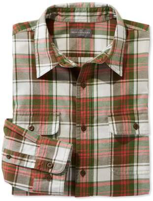 L.L. Bean L.L.Bean Signature Castine Flannel Shirt, Plaid
